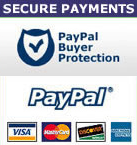 Secure Payments with Paypal Buyer Protection and Accepted payment methods
